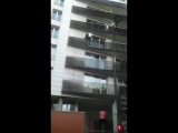 Paris Real life hero climbed 4th floor to rescue a child - Y.mp4
