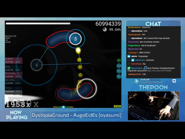 ThePooN | DystopiaGround - AugoEidEs [oyasumi] 2468/2472x 99.60% 3 Loved Livestream w/chat!