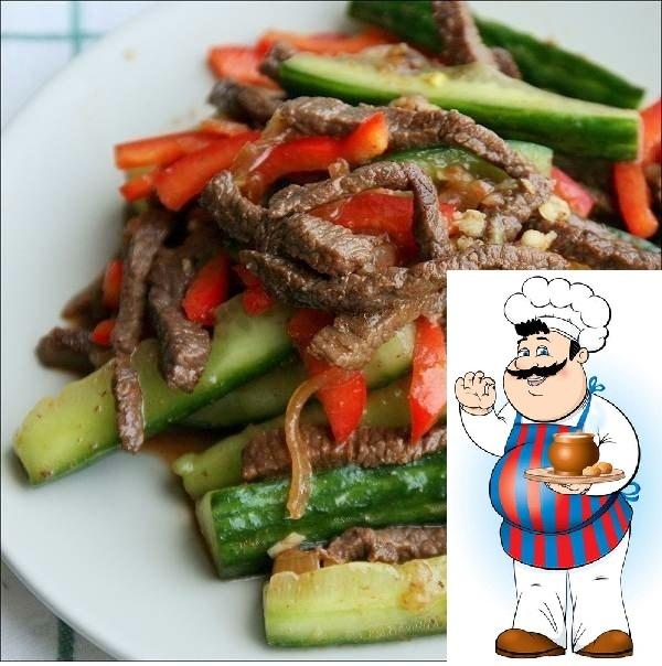 Вкуснейшая закусочка, радует правильно сочетание мясо-овощи, блюдо нравится всем, кто уже успел к нему приложиться