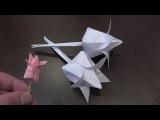 Тюльпан из бумаги - оригами из бумаги - объемный тюльпан