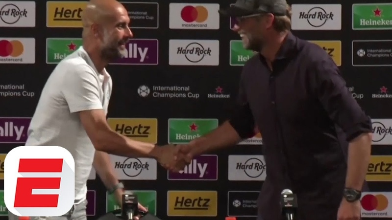 Liverpool Manager Jurgen Klopp Interrupts Pep Guardiola Press Conference