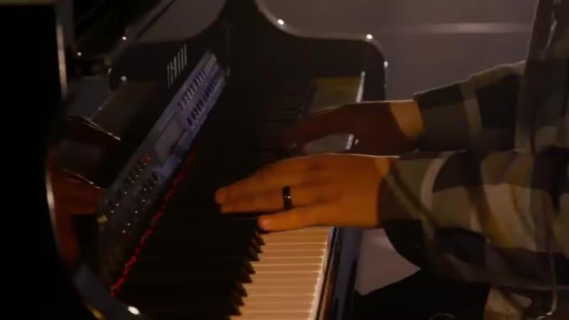 Neon gravestones piano