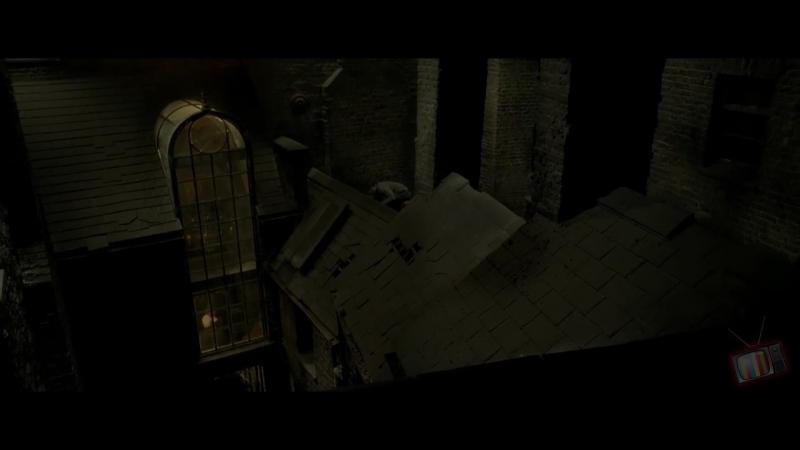 Гарри, Рон и Гермиона следят за Драко - Гарри Поттер и Принц-полукровка (2009) - Момент из фильма