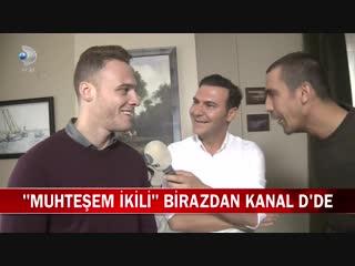 Muhteşem İkili Dizisinin Oyuncuları Kerem Bürsin ve İbrahim Çelikkol Kanal D Hab