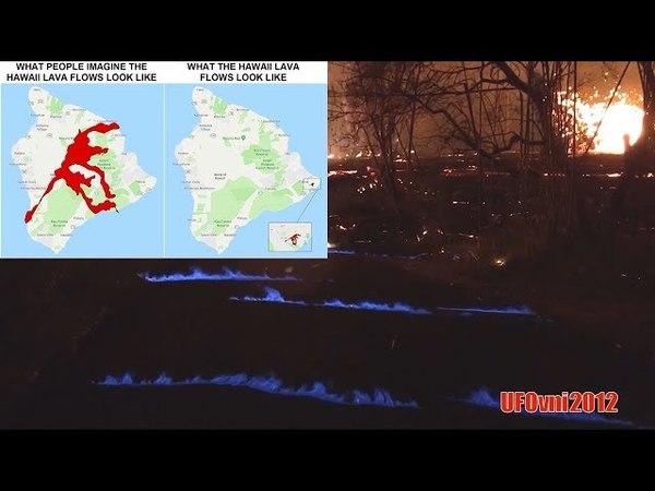 Kilauea: Blue flames appear on the streets of Hawaii.