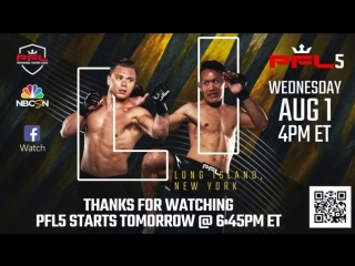 #PFL5 2018 Weigh-ins Live from Uniondale, NY
