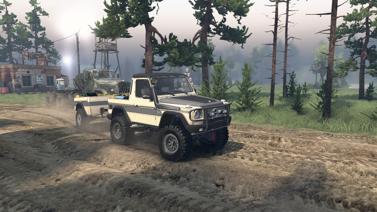 Mercedes G320 CDI Standard & Pickup Version 1.0 для Spintires - Скриншот 1