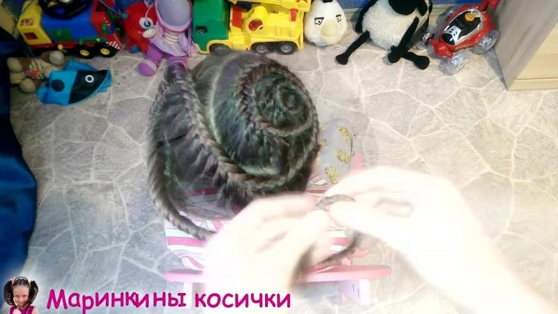 Прическа для девочки ⚜️Завитки ⚜️из косы рыбий хвост _ Как заплести ребенка в школу