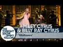 Miley Cyrus and Billy Ray Cyrus Pay Tribute to Tom Petty with Wildflowers Cover