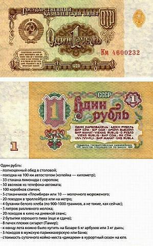 Советские купюры с описанием, что на них можно было купить!