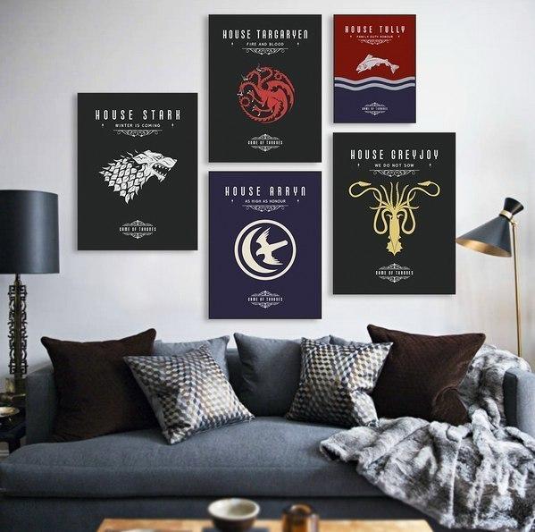 Постеры с гербами домов из Игры престолов -