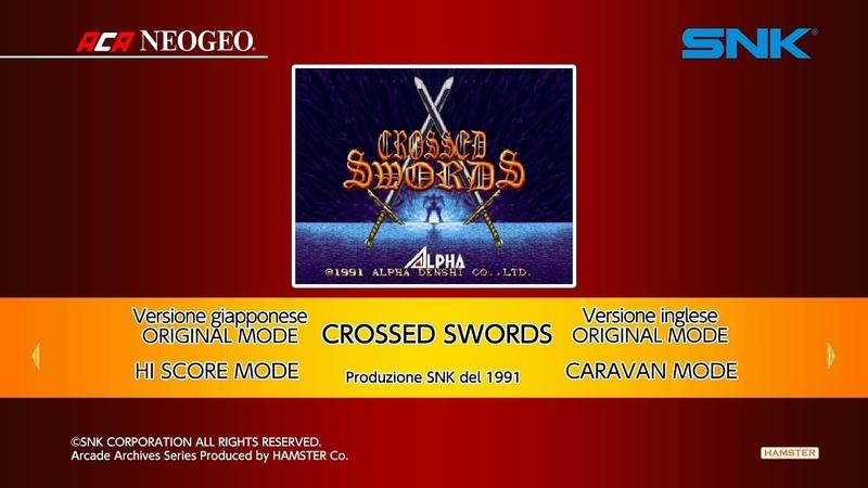 ACA NEOGEO Crossed Swords (Switch) First Look on Nintendo Switch - Gameplay