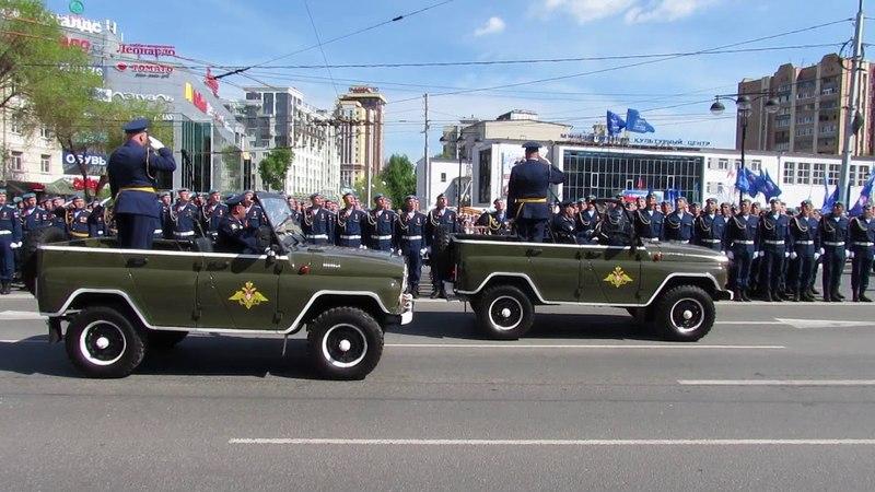 Военный парад рязанского гарнизона 9 мая 2018 года