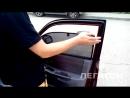 Автошторки Hyundai Accent на магнитах установка