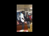Big White Dude Threatens A Black Guy Who Hit A Woman