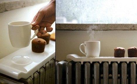 Идея, актуальная в холода: керамический поднос для батареи, позволяющий дольше сохранить горячим то, что должно оставаться горячим.