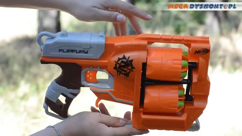 Flipfury Blaster - Nerf Zombie Strike - Hasbro - A9603 - MD Toys