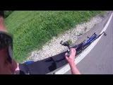 Rollerski track recumbent slide