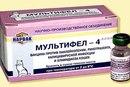 Мультифел-4 вакцина для кошек против панлейкопении, калицивироза ринотрахеита и хламидиоза 10 доз/уп.
