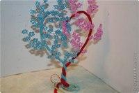 Любимый бисер--Сердечное деревце.  Ещё один вид деревца-подарка по этой ссылке и подробный МК.