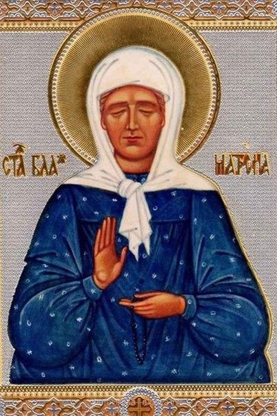 2 мая — день памяти блаженной Матроны Московской,...