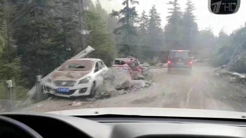 ВКитае засутки произошло два мощных землетрясения Новости Первый канал