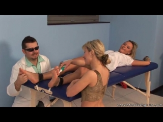 Czech Nurse Sandra in Tickle Action