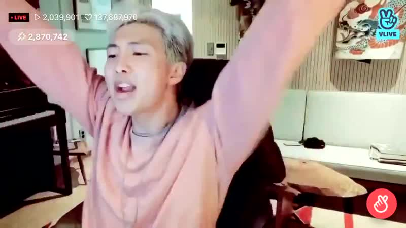 RM felt he is not satisfied because he didn't put this hey' part on the song MikroKosmos'.