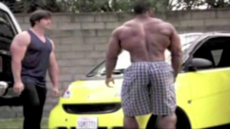 *HUGE* Bodybuilders Deadlift A Car Move It Over WOW