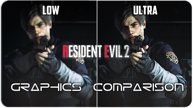 Resident Evil 2 - PC - Low. vs Ultra detailed Graphics Comparison 4K
