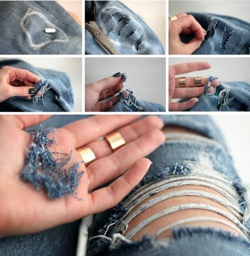 Как правильно порвать джинсы (1 фото) - картинка