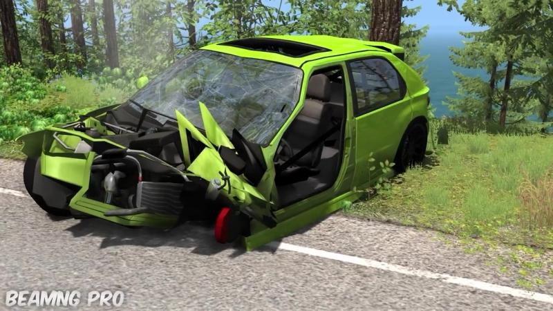 [BeamNg Pro] Car Overtaking Crashes Compilation - BeamNG Drive - HD