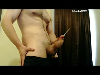 Hot big cock stroked (cumpilation) to multiple cumshots - sexy solo male