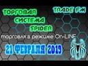 Прибыльная торговля Форекс ТС SPIDER
