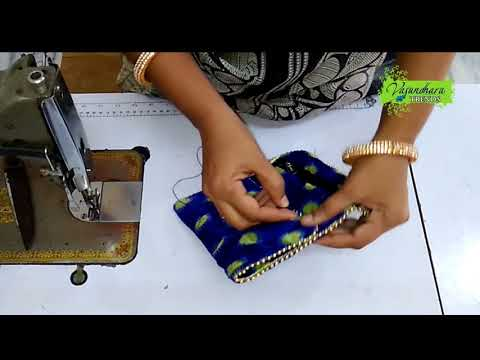 DIY Designer Purse Making Tutorial With Old Cloth || DIY Fabric Pouch Stitching At Home