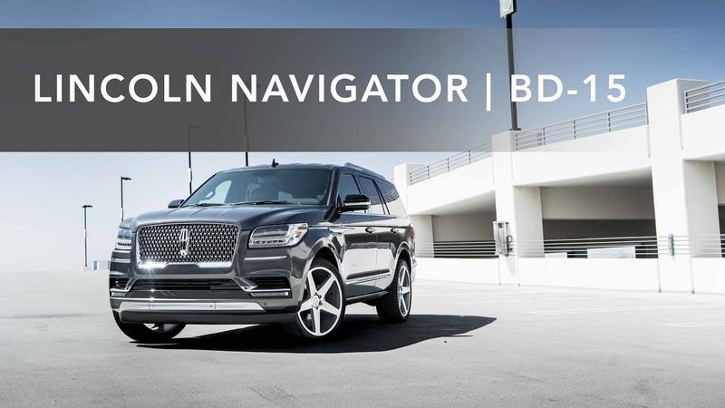 2018 Lincoln Navigator | Blaque Diamond 24 BD-15 Machined Silver
