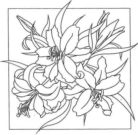 Рисунки-шаблоны для батика
