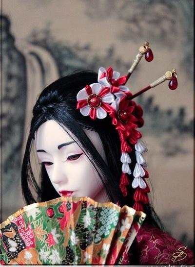 Украшение головы японки своими руками 83