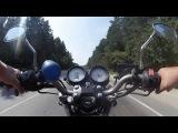 Тест камеры teXet Texet AEE DVR-905S на мотоцикле Honda Hornet
