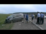 Авария/Видео регистратор/Подробности аварии под Иркутском с участием автобуса с детьми