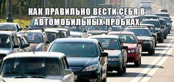 Как правильно вести себя в автомобильных пробках. Хорошо стоим.