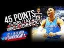 Russell Westbrook Full Highlights WCR1 Game 5 OKC Thunder vs Utah Jazz - 45-15-7! | FreeDawkins