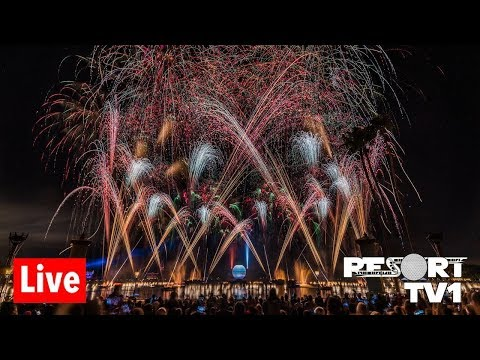 🔴Live: New Year's Eve Fireworks at Epcot - Walt Disney World Live Stream