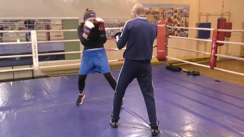 Школа бокса Алексея Фролова. Комбинированная защита.