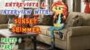 Entrevista a Sunset Shimmer Parte 1| Interview with Sunset Shimmer Part 1 English Sub | PonyDubberx