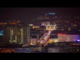 Ночной Мурманск, hyperlapse. (2017-2018)