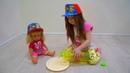 Развлекательный мультик для детей, Как Кира с лялей играет дома?