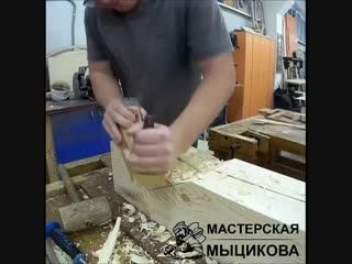 2 часа работы за минуту :) Строительство современных рубленых домов из лафета по норвежской технологии по всей России,