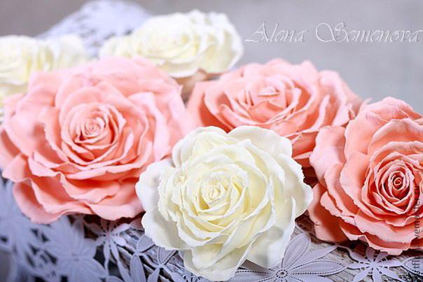 Розы из фоамирана. Мастер-класс. (9 фото)