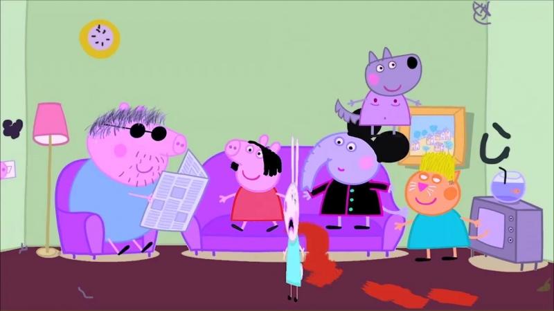 Свинка Пеппа Face клип Цвет настроения синий